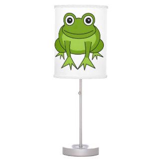 Cute Green Frog Cartoon Table Lamp