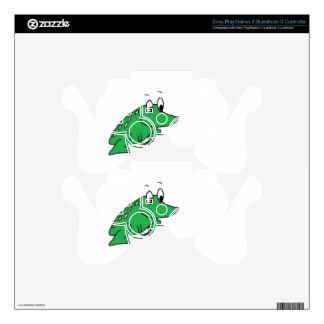 Cute green frog drawing decal for PS3 controller