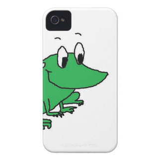 Cute green frog drawing iPhone 4 case