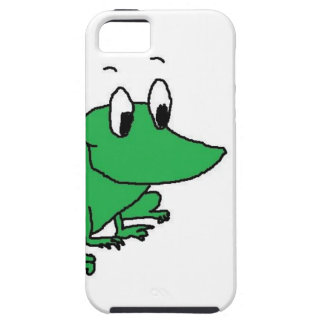 Cute green frog drawing iPhone SE/5/5s case