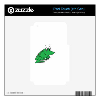 Cute green frog drawing skins for iPod touch 4G