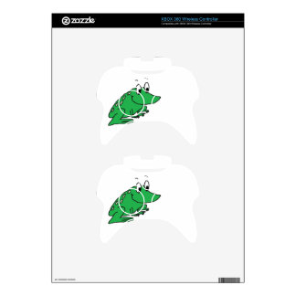 Cute green frog drawing xbox 360 controller decal
