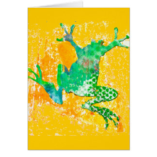 Cute Green Frog Greeting Card
