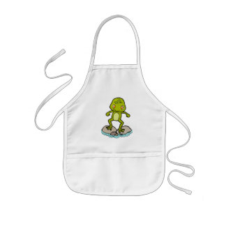 Cute green frog kids' apron