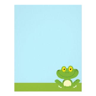 Cute Green Frog Letterhead