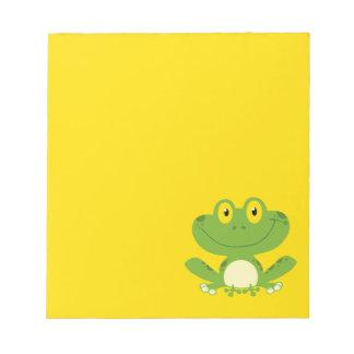 Cute Green Frog Memo Pad