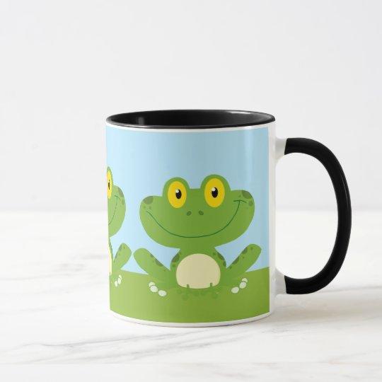 Cute Green Frog Mug