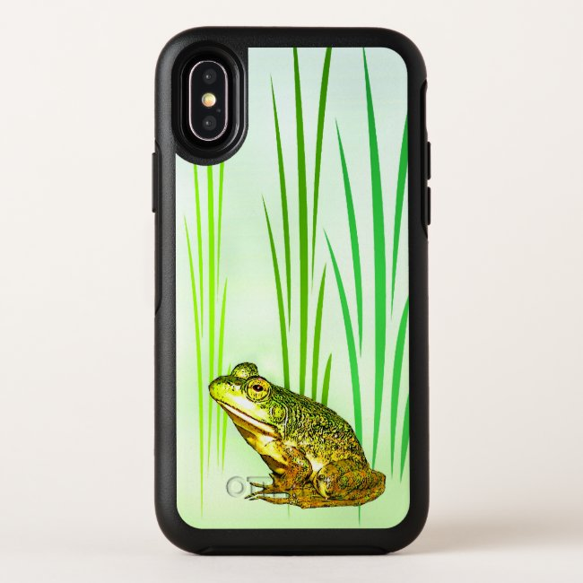 Cute Green Frog OtterBox iPhone X Case