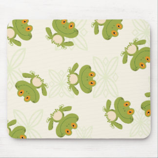 Cute Green Frog Pattern Mouse Pad