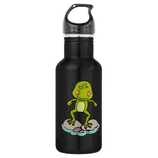 Cute green frog 18oz water bottle