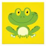 Cute Green Frog Photo Print