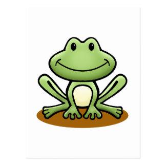 Cute Green Frog Post Card