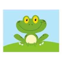 Cute Green Frog Postcard