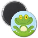 Cute Green Frog Refrigerator Magnet