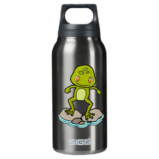 Cute green frog 10 oz insulated SIGG thermos water bottle