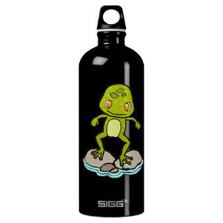 Cute green frog SIGG traveler 1.0L water bottle