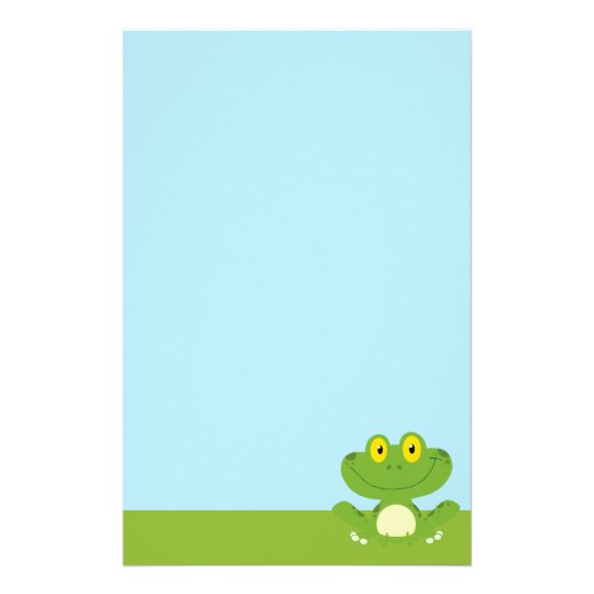 Cute Green Frog Stationery