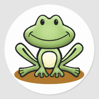 Cute Green Frog Stickers