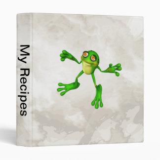 Cute Green Froggy Binder