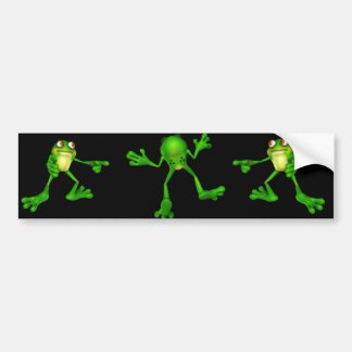 Cute Green Froggy Bumper Sticker