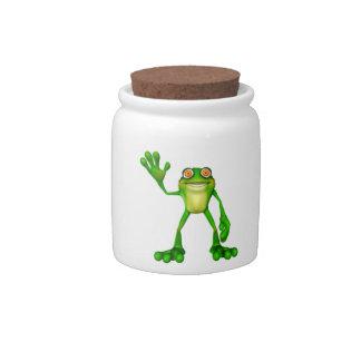 Cute Green Froggy Candy Jar