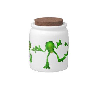 Cute Green Froggy Candy Dish