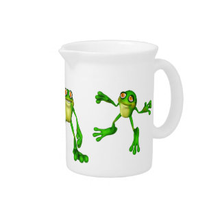 Cute Green Froggy Drink Pitchers