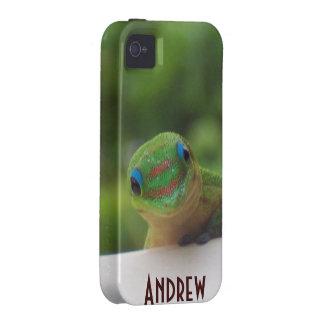 Cute Green Gecko Wildlife Case-Mate iPhone 4 Covers