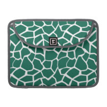 Cute Green Giraffe Animal Print MacBook Pro Sleeve