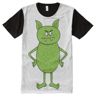 Cute green goblin cartoon All-Over print t-shirt
