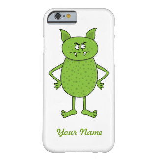 Cute green goblin cartoon barely there iPhone 6 case