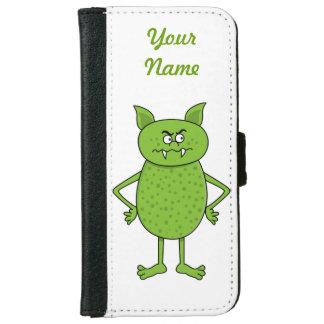 Cute green goblin cartoon iPhone 6/6s wallet case
