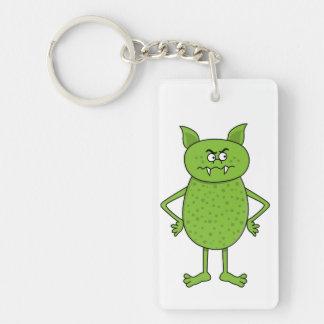 Cute green goblin cartoon keychain