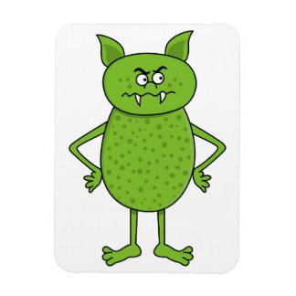Cute green goblin cartoon magnet
