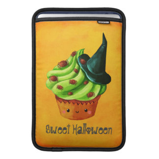 Cute Green Halloween Cupcake Sleeve For MacBook Air