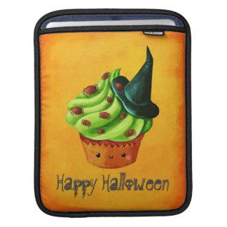 Cute Green Halloween Cupcake Sleeves For iPads