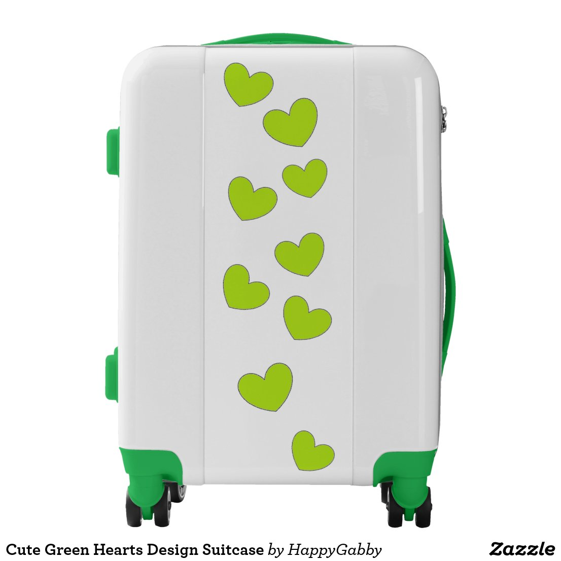 Green Hearts Design Suitcase