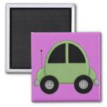 Cute Green Kids Car Fridge Magnet
