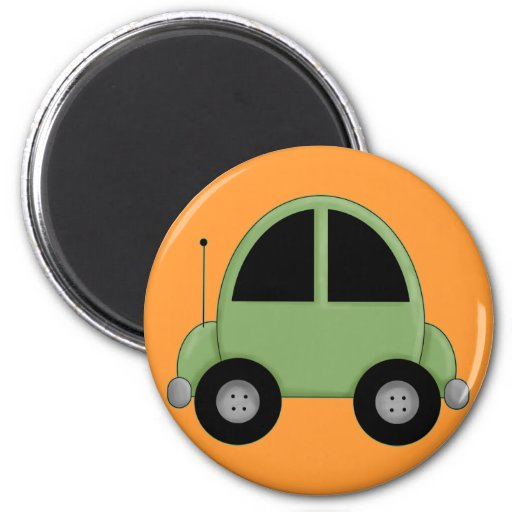 Cute Green Kids Car Fridge Magnets