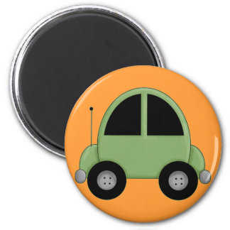 Cute Green Kids Car Magnet