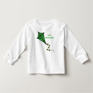 Cute Green Kite Toddler Long Sleeves Toddler T-shirt