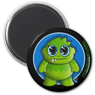 Halloween Themed cute green monsster magnet