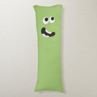 Cute Green Monster Body Pillow