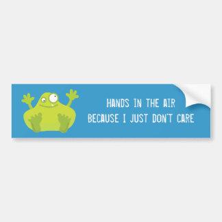 Cute Green Monster Bumper Sticker Car Bumper Sticker