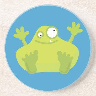 Cute Green Monster Coaster