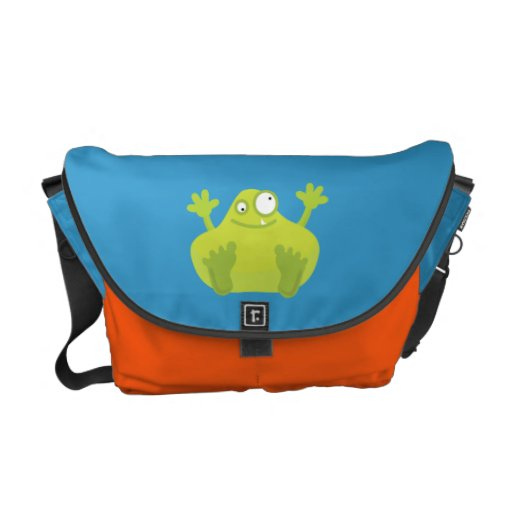 Cute Green Monster Courier Bags