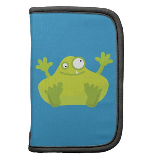 Cute Green Monster Folio Planners