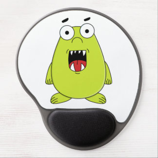 Cute green monster gel mouse pad