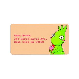 Cute Green monster Label