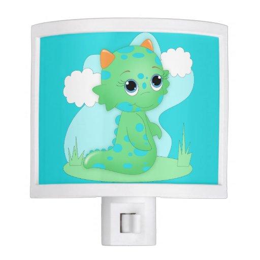 Cute Green Monster Night Light Children 39 S Room Zazzle